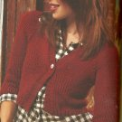 ** Soft Back Knitting Book - Bulky Top Down Cardi -