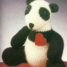 "Crochet Lovable 14"" Panda Pineapple Throw Baby Boy Bunting"