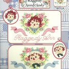 *Raggedy Ann and Andy - HEARTS & FLOWERS Cross Stitch Pattern