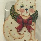 Cookie Jar Lid Painting Pattern - Rosemary West - Christmas Cat