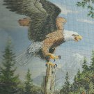 SCREAMING EAGLE Cross Stitch KIT  Bucilla Heirloom Collection