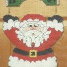 ** Large Plastic Canvas Door Greeter Santa HO HO HO