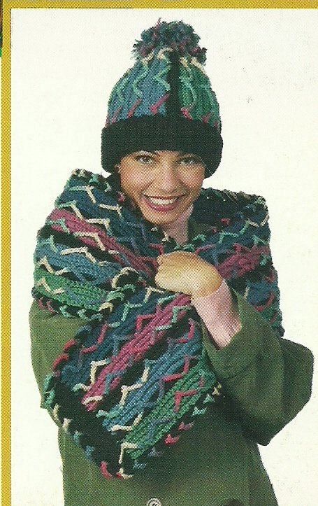 **Crochet 7 HATS & SCARVES  Patterns by Annie's Attic