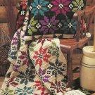 Snowflake Afghan and Pillow / 3-Dimensonal Snowflakes / English Sheepdog