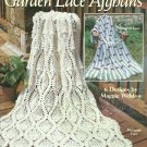 Maggie's Crochet Garden Lace Afghans - Pineapple Rose  HTF