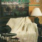Annie's Loop n Lace Mile-A-Minute Cables Afghan Pattern