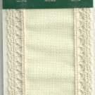Ivory 18 count Bookmark with lace trim ~ Charles Craft
