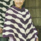 Single Super Bulky Ladies Poncho Pattern