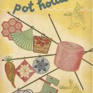 Vintage Star Pot Holders Crochet Book # 32