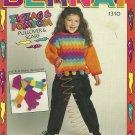 Bernat ZigZag & PomPom Pullover and Scarf - Knitting Pattern