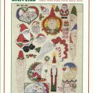 * SANTAS cross stitch patterns Sam Hawkins Designs