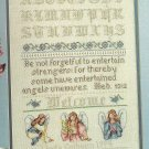* Angels Unaware Cross Stitch Pattern  Sampler 1994