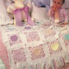 Field of Pansies Afghan / Lacy Hearts Afghan /Granny Squares/Nanny Squares