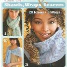 Soft Back Knitting Book - Shawls, Wraps & Scarves