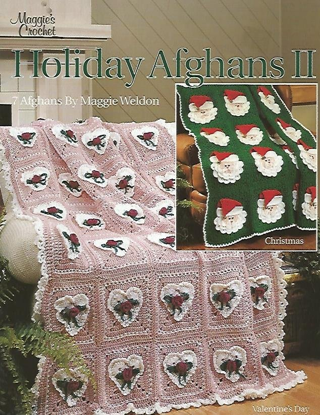 OOP - HTF - Holiday Afghans 2 - by Maggie Weldon - Free Shipping in US
