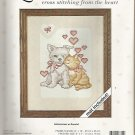 *Cross Stitch KIT MATTED FIRST LOVE ~ Love Notes Puppy Kitten