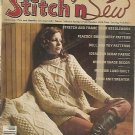 Stitch'n'Sew - 1977 -  Aran Knit Sweater & Pillow