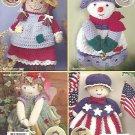 CROCHET Annie's Attic Mini Broom Dolls and Magnets by Michele Wilcox