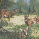 * Embellished Cross Stitch Kit  DEER SUMMER MEADOW PICTURE