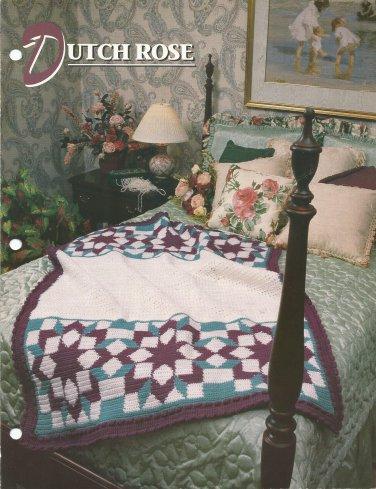 *Annie's Crochet Quilt & Afghan Club -  Dutch Rose