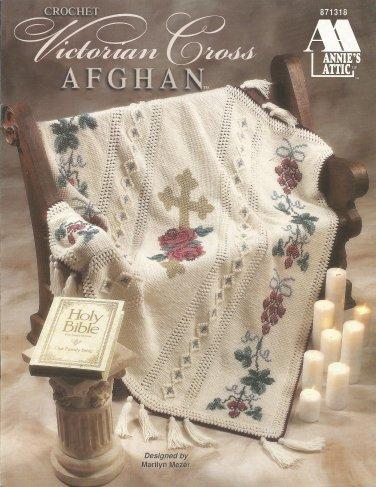 Annie's Attic Crochet Victorian Cross Afghan Pattern