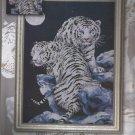 *Tiger Cross Stitch  Kit MOONLIT TIGERS