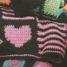 ** Chick Stuff Gelly Afghans - Hearts & Stripes - Bed Of Roses -7 Goof-Proof Crochet Afghan Patterns