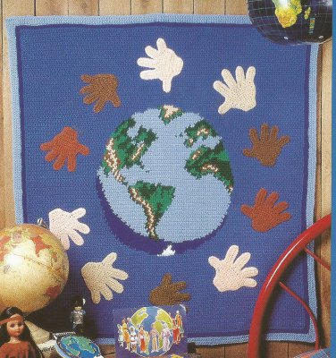 World Friendship Afghan - Forest of Ice - 1997 Afghan Calendar