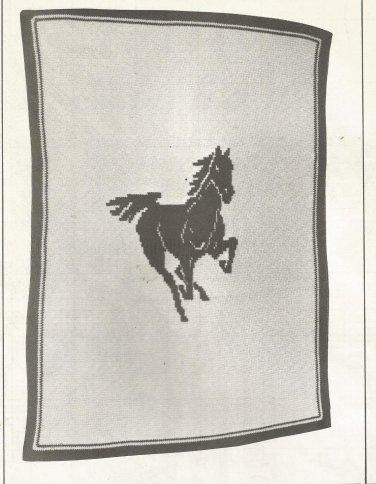 Afghan Patterns from 1980 - Stallion - Navaho Diamond - Scottie - Amish