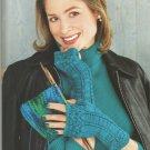 I love Knitting Wristlets- Texting Mitts - Fingerless Gloves