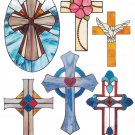 ** Stained Glass  Pattern - Marick Studios - Crosses