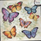 Butterfly Cross Stitch KIT - BUTTERFLY PROFUSION  Dimensions