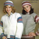 Knit Matching Sweater, Cardigan and Cap