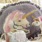 Crochet Fantasy Afghan Magazine - 1993 - Unicorn & Bird Pillows, Bear Afghan
