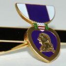 United States Mini Purple Heart Medal Tie Clip