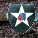 US Army 2nd Infantry Division Indianh head Tie Clip