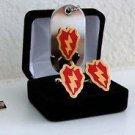 US Army 25th Infantry Division Cuff Links Tie Clips Money Clip & Dog Tag Set