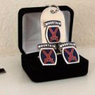 US Army 10th Mountain Division Cuff Link , Tie Clip , Money Clip and Dog Tag Set