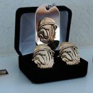 USMC Bulldog Cuff Links Tie Clip Money Clip & Dog Tag Set