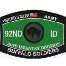 US Army 92nd Infantry Division MOS Buffalo Soldiers MOS Patch