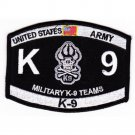 US Army K-9 TEAMS Military Occupational Specialty MOS K-9 Patch