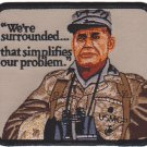 USMC We're Surrounded That Simplifies Our Problem Patch