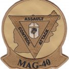USMC MAG 40 Marine Aircraft Group Patch