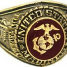 U S Marine Corp Electroplated 18k Gold Ring