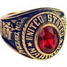 U S Marines Women Electroplated 18K Gold Ring