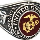 U S Marine Corp Rhodium Finish Ring