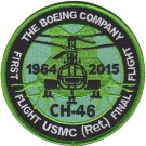 USMC CH-46 First Flight USMC RET Final Flight Patch