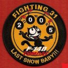US Navy F-14 TOMCAT SQN VF-31 LAST SHOW BABY Patch