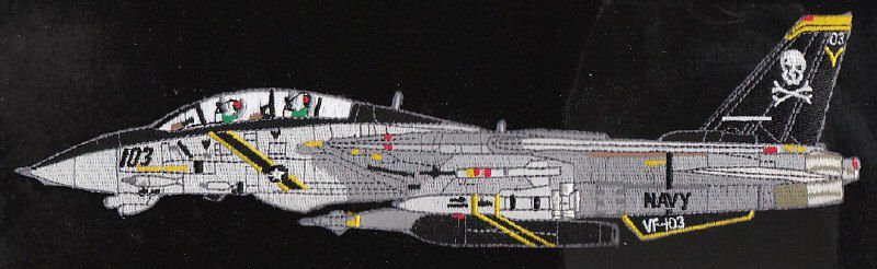 US Navy VF-103 Jolly Rogers Navy Squadron F-14 Tomcat Patch