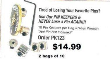 Pin Back Locks Set of 20
